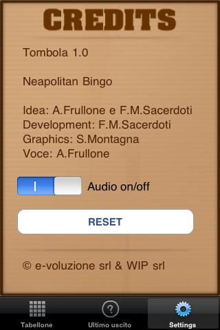 Screenshot iTombola